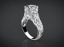 3d printed engagement ring vintage style wedding ring 3d printable model cgtrader