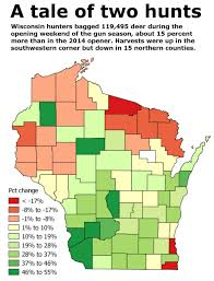 Counties In Wisconsin Map by Opening Weekend Deer Kill Down Slightly In Chippewa County Local