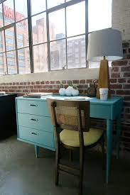 mid century is the best century mid mod desk in blue u2014 a simpler