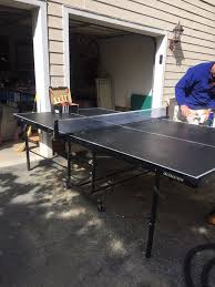 harvard ping pong table harvard ping pong table with tension net four paddles and balls