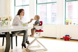 amazon com wooden high chair with removable tray cherry