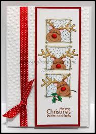 christmas card club challenge 22 christmas reindeer rainey u0027s