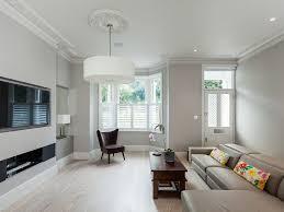 purple lampshade contemporary family home loft conversion cream