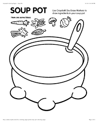 free coloring pages of soup pot coloring page crayola in general