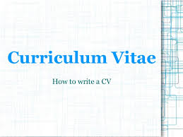how to write a resum presentation cv