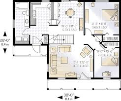 cottage style house plan 2 beds 1 00 baths 920 sq ft plan 23 101
