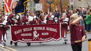 east middle school marching band to play during philadelphia