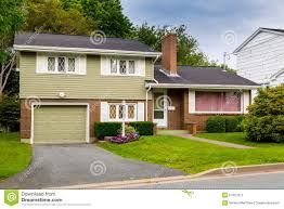 Split Level Home by Vintage Split Level Home Stock Photo Image 57487973