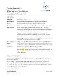 free bookkeeper resume example bookkeeper resume sample my