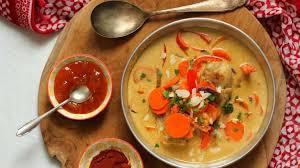 cuisiner la mangue curry de poulet au chutney de mangue recette par la délicieuserie