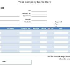 Quarterly Expense Report Templa by Expense Report Template Sogol Co
