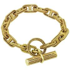 gold bracelet hermes images 1960s hermes chain d 39 ancre gold bracelet at 1stdibs jpg