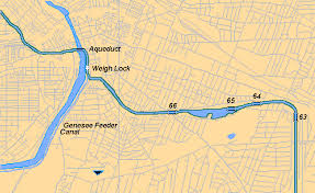 map of the erie canal rochester