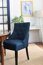 Navy Blue Dining Room Chairs Modern Vasa Fabric Dining Chair With Removable Cover Navy Blue In