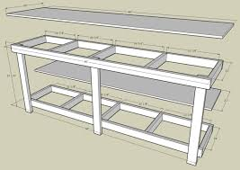 Diy Workbench Free Plans Diy Workbench Workbench Plans And Spaces by Garage Work Bench With Measurements By Http Www Wirelesscouch
