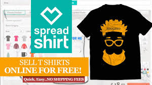 design by humans canada spreadshirt how to design and sell your t shirt online free youtube