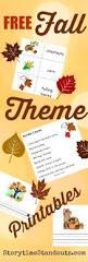 fall theme kindergarten and preschool printables