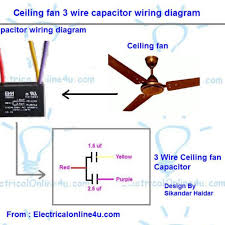 amazing 5 wire ceiling fan capacitor wiring diagram as well as