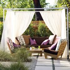create an outdoor cabana sunset