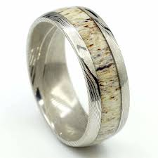 antler wedding ring antler wedding bands wedding rings free us shipping manly bands