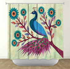 bathroom peacock cloth peacock shower curtain rose colored