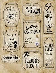 halloween lables free printable halloween apothecary labels 16 designs plus blanks