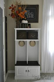 Small Media Room Ideas by Remodelaholic Media Cabinet Into A Locker