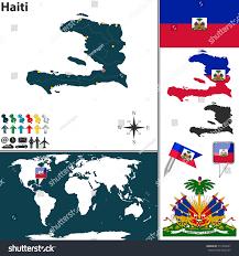 World Map Haiti by Vector Map Haiti Regions Coat Arms Stock Vector 211034047
