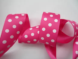 pink polka dot ribbon hot pink polka dot ribbon taffeta 1 1 2 inch wide wreath
