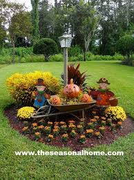 fall decorations for outside fall yard display ideas 587