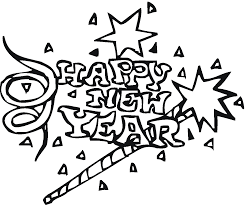 12 coloring pictures happy new year print color craft
