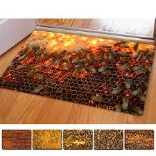 online get cheap funny bath mat aliexpress com alibaba group honeycomb 3d thin indoor mats rugs for home funny bathroom carpet 40x60cm tapis cuisine kitchen doormat floor mats thin bath mat