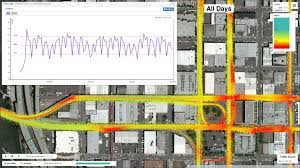 Map Of Downtown Portland by Db4iot Routeanalyst Creating Speed U0026 Delay Maps From Cad Avl Data