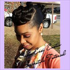 updo transitional natural hairstyles for the african american woman 2015 super easy easter hairstyle tutorial natural hair transitioning