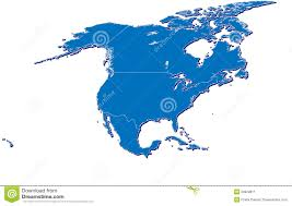 Pandas Map North America Map In 3d Stock Illustration Image Of Projection