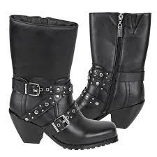 buy womens biker boots xelement women s skull 10 5in biker boots leatherup com