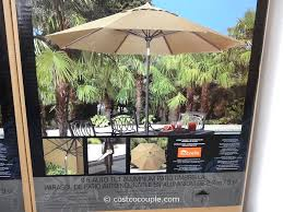 11 Parasol Cantilever Umbrella Sunbrella Fabric by Costco Patio Umbrella Base Home Outdoor Decoration