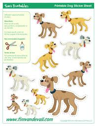 dog templates dog shapes and printable dog stickers