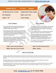 Wedding Resume Format 9 Sample Biodata Format For Marriage With Bonus Writing Tips