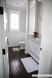 Best  Dark Floor Bathroom Ideas On Pinterest Bathrooms White - White cabinets master bathroom