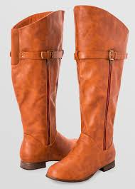 womens boots for wide wide width wide calf side zip flat boot wide width s