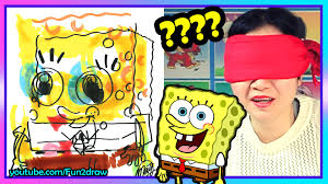 drawing spongebob blindfold challenge color with copic markers