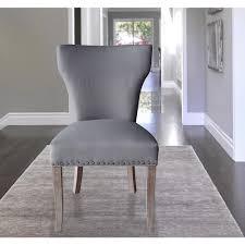 linen dining chair sleek grey linen dining chair set of 2 dwc 499gy the home depot