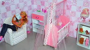 how to make a baby crib cot part 1 for doll monster high