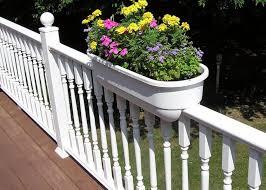unique deck railing planters med art home design posters