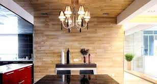wood clad wall kitchen interior design ideas
