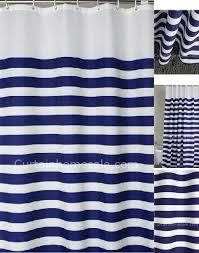 the nautical blue toile western shower curtain filmesonlineco bathroom in blue and white with toile fabric drapes that anchor the