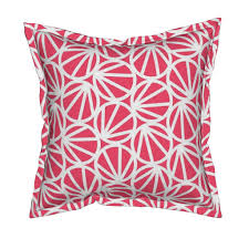 mari coral pink square pillow by hitomikimura roostery home decor