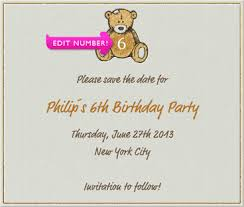 save the date birthday cards square beige kid s birthday party save the date card with