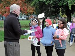 halloween city medina oh students march to city hall with petitions to persuade brook park